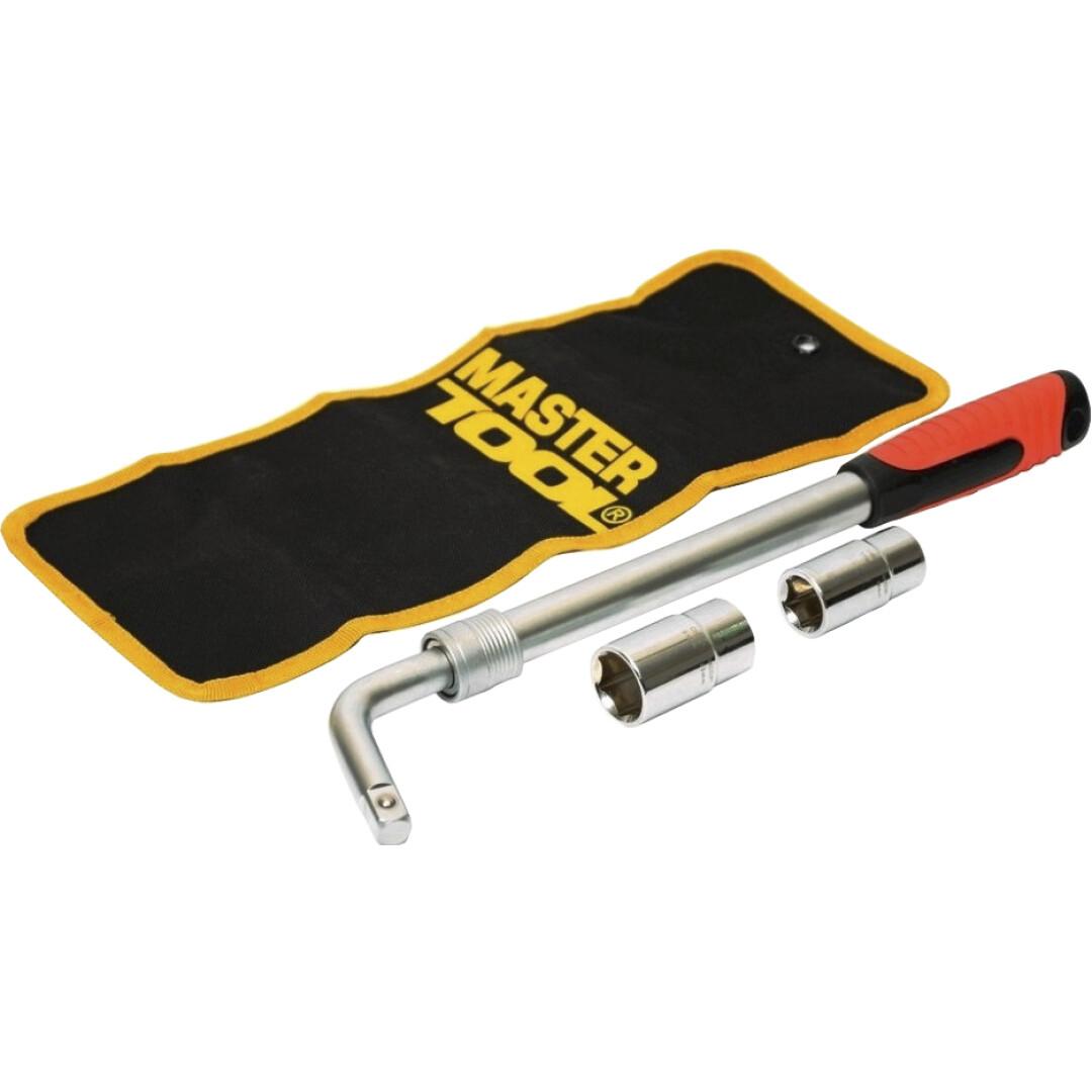 Купить Ключи автомобильные, Ключ балонный телескопический MasterTool 780100 L-образный 17х19/21х23 мм