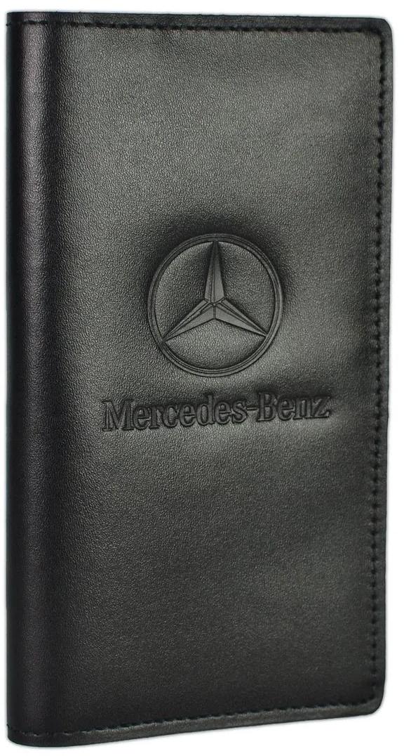 Купить Обложки для документов, Портмоне-органайзер Poputchik 4023-035 с логотипом Merсedes-Benz цвет черный