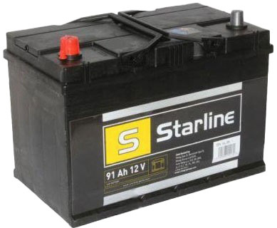 Купить Аккумулятор Starline 6 CT-91-L basl95jl