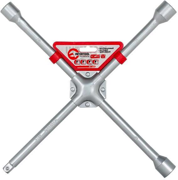 Купить Ключи автомобильные, Ключ балонный Intertool ht1603 X-образный 17x19x21 мм