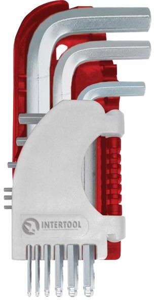 Купить Ключи автомобильные, Набор ключей шестигранных Intertool ht1813 1, 5-10 мм 9 шт