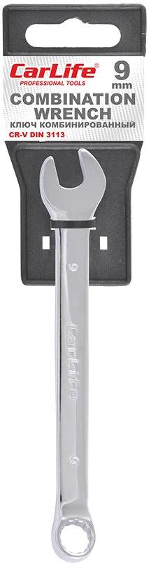 Купить Ключи автомобильные, Ключ рожково-накидной Carlife WR4009 I-образный 9 мм