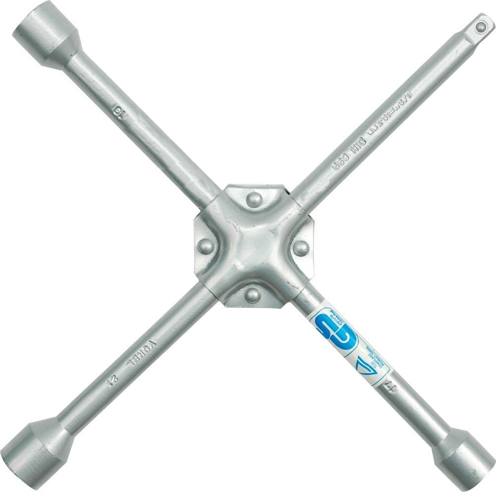 Купить Ключи автомобильные, Ключ балонный Vorel 57020 X-образный 17x19x21 мм