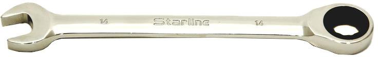 Купить Ключи автомобильные, Ключ комбинированный трещоточный Starline NRGW14 I-образный 14 мм