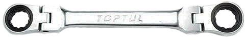 Купить Ключи автомобильные, Ключ накидной трещоточный Toptul AOAE0809 I-образный 8х9 мм с шарниром