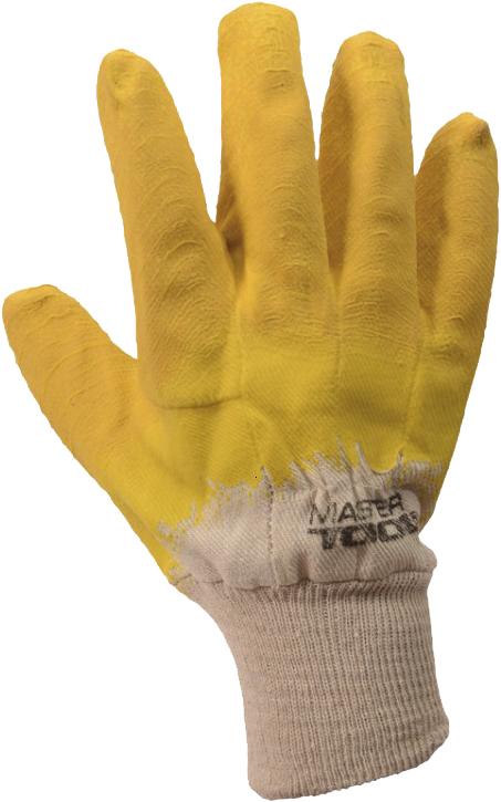 Перчатки рабочие MasterTool трикотажные с латексным покрытием желтый