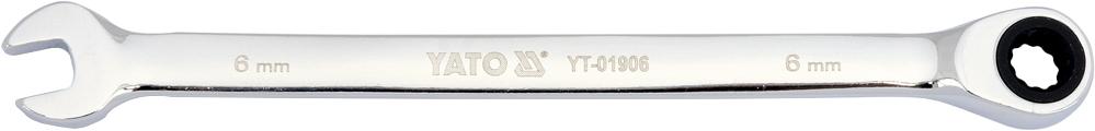 Купить Ключи автомобильные, Ключ комбинированный трещоточный Yato yt01906 I-образный 6 мм