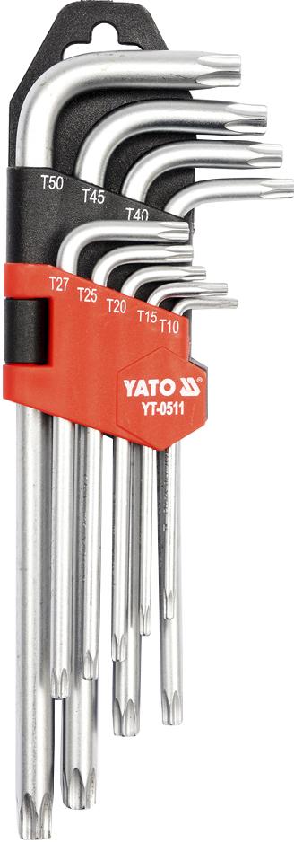 Купить Ключи автомобильные, Набор ключей TORX Yato YT0511 T10-T50 9 шт