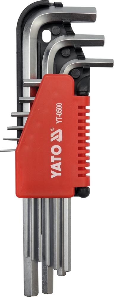Купить Ключи автомобильные, Набор ключей шестигранных Yato YT0500 1, 5-10 мм 9 шт