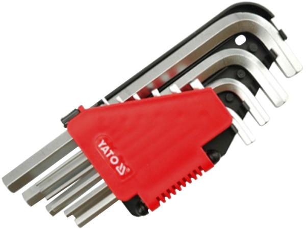 Купить Ключи автомобильные, Набор ключей шестигранных Yato YT0508 2-12 мм 10 шт
