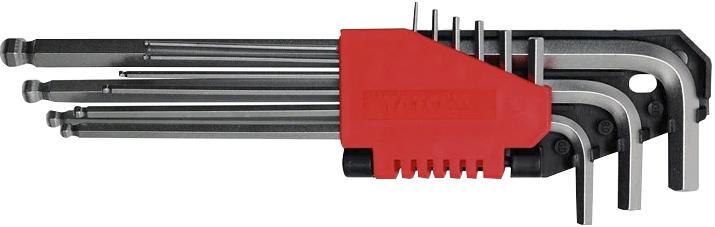 Купить Ключи автомобильные, Набор ключей шестигранных Yato YT0507 2-10 мм с шарообразным наконечником 9 шт