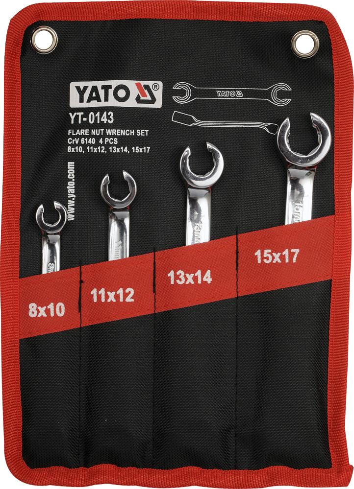 Купить Ключи автомобильные, Набор ключей разрезных Yato YT0143 8-17 мм 4 шт