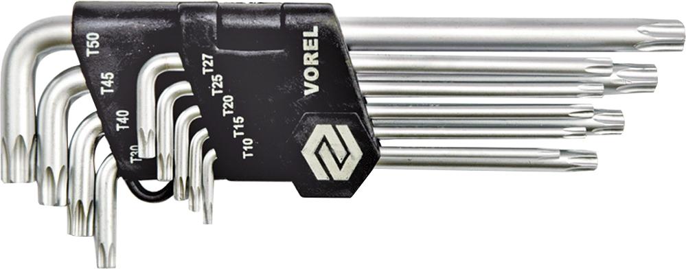 Купить Ключи автомобильные, Набор ключей TORX Vorel 56478 T10-T50 9 шт