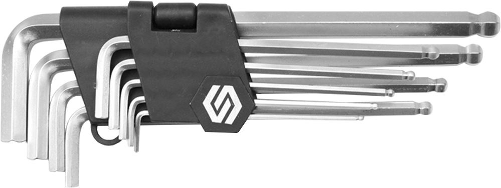 Купить Ключи автомобильные, Набор ключей шестигранных Vorel 56477 2-10 мм с шарообразным наконечником 9 шт