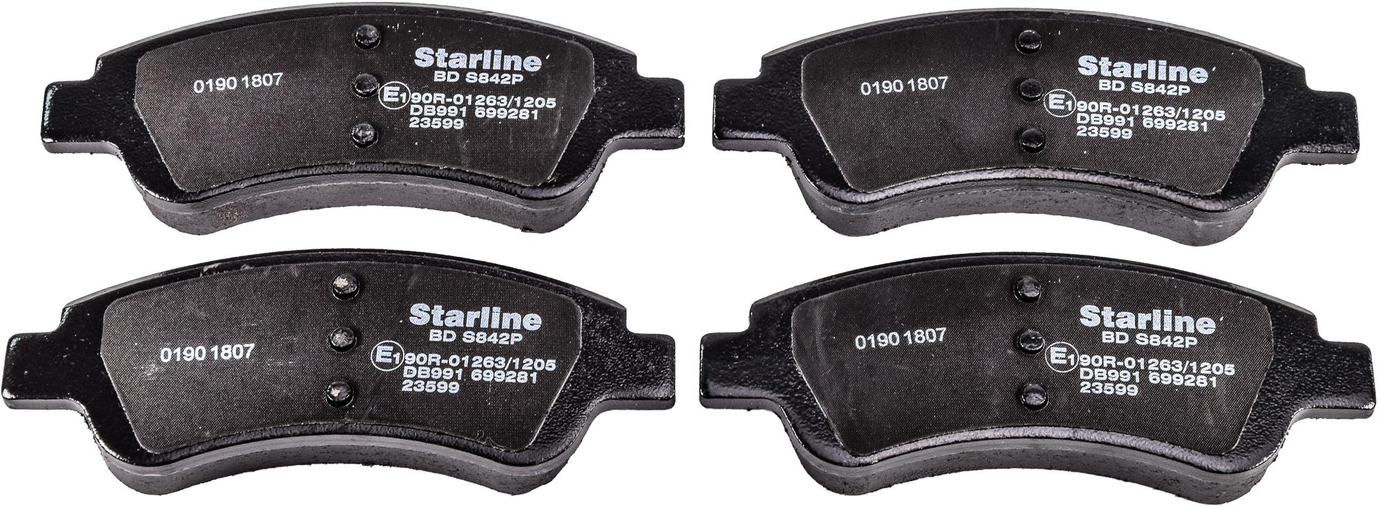 Купить Starline BDS842P Тормозные колодки