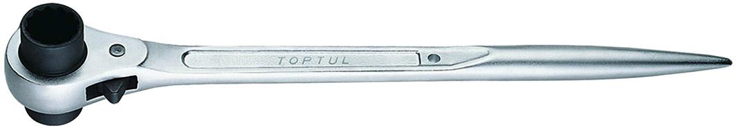 Купить Ключи автомобильные, Ключ накидной трещоточный ударный Toptul AEAH1719 I-образный 17х19 мм
