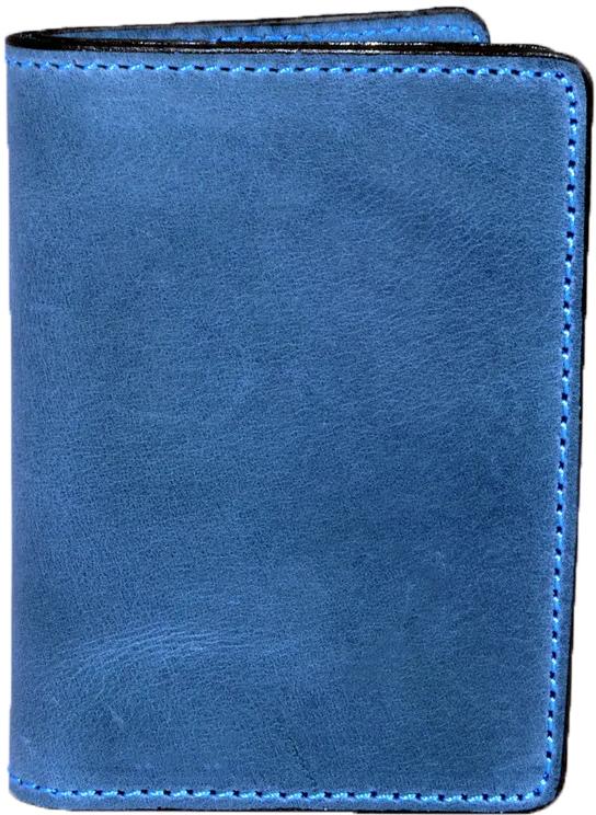Купить Обложки для документов, Обложка для прав и техпаспорта Poputchik 5164-1-053P без логотипа синий