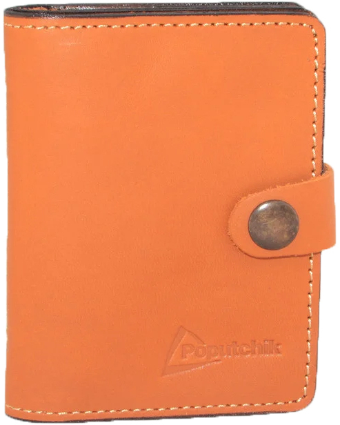 Купить Обложки для документов, Обложка для прав и техпаспорта Poputchik 5164-2-051P без логотипа оранжевый