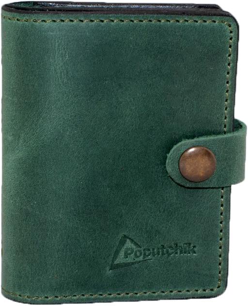 Купить Обложки для документов, Обложка для прав и техпаспорта Poputchik 5164-2-054P без логотипа зеленый