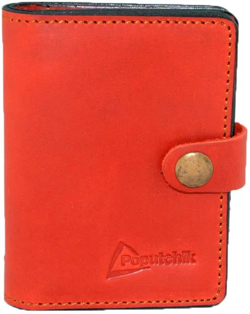 Купить Обложки для документов, Обложка для прав и техпаспорта Poputchik 5164-2-055P без логотипа красный