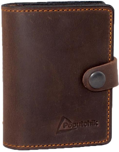 Купить Обложки для документов, Обложка для прав и техпаспорта Poputchik 5164-2-052P без логотипа коричневый