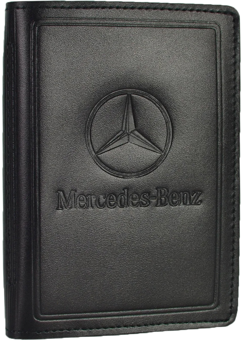 Купить Обложки для документов, Портмоне-органайзер Poputchik 5062-035 Merсedes-Benz черный