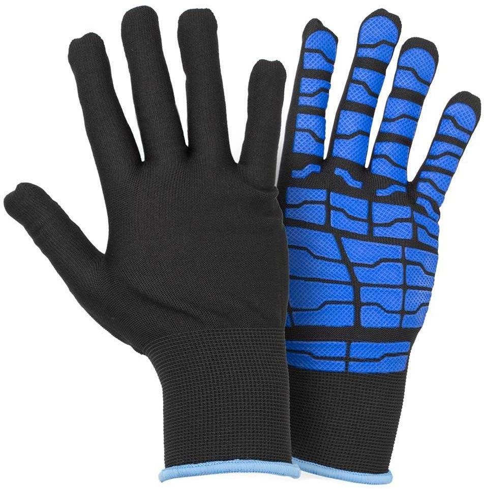 Перчатки рабочие Sigma трикотажные с латексным покрытием черный 9445541