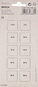 Набор предохранителей Bosch 1987529038 FN mini 5A  7,5A  10A  15A  20A  25A  30A  10 шт.