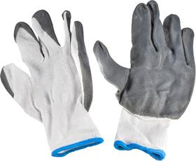 Перчатки рабочие Дорожная Карта синтетические с покрытием ПВХ белые