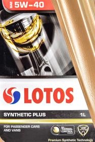 Моторное масло LOTOS Synthetic Plus 5W-40 синтетическое