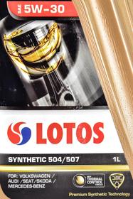 Моторное масло LOTOS 504/507 5W-30 синтетическое