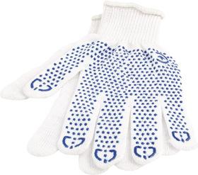 Перчатки рабочие MasterTool хб с покрытием ПВХ белые