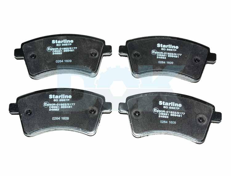 Купить Starline BDS857P Тормозные колодки