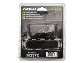 USB переходник на прикуриватель Winso 3 в 1 + USB 200130
