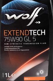 Трансмиссионное масло Wolf ExtendTech GL-5 75W-90 полусинтетическое