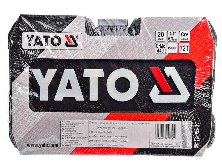 Купить Наборы инструментов, Набор инструментов Yato YT-14491 1/4 20 ед.