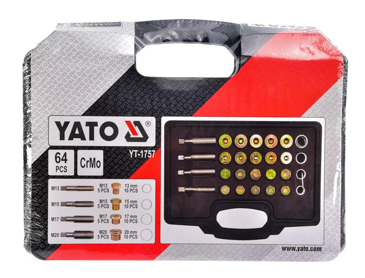 Купить Наборы инструментов, Набор инструментов Yato YT-1757 64 шт.