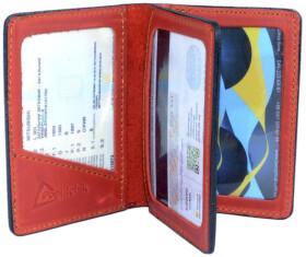 Обложка для прав и техпаспорта Poputchik 5164-1-055P без логотипа красный
