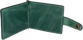 Зажим для купюр Poputchik 4021-052P без логотипа зеленый