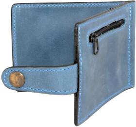Зажим для купюр Poputchik 4021-053P без логотипа синий