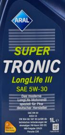 Моторное масло Aral SuperTronic LongLife III 5W-30 синтетическое
