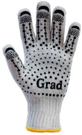 Перчатки рабочие Grad трикотажные с покрытием ПВХ белый