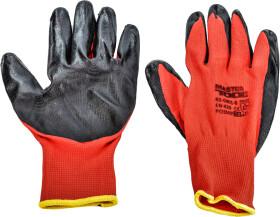 Перчатки рабочие MasterTool синтетические с нитриловым покрытием красные