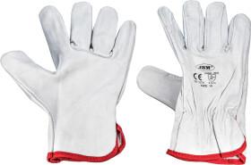 Перчатки рабочие JBM кожаные белые
