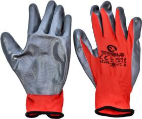 Перчатки рабочие Intertool трикотажные с нитриловым покрытием серые