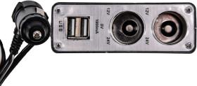 Разветвитель прикуривателя с USB Pulso 2 в 1 + 2 USB WF-0030
